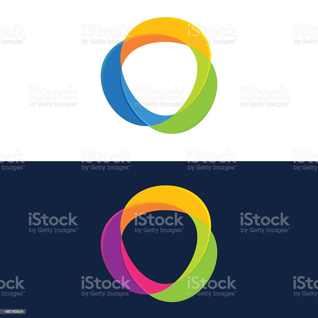 Abstract sphere icon vector art illustration