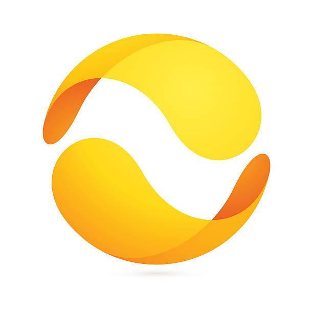 ilustraciones, imágenes clip art, dibujos animados e iconos de stock de abstract icono esfera - yin yang symbol
