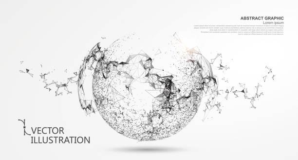 Abstrakten Bereich, Internet-Anschluss. – Vektorgrafik