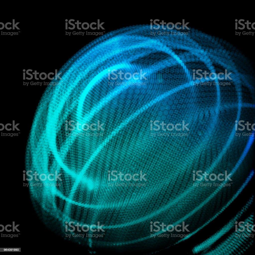 Abstract sphere of noise points array. Grid vector illustration. Technology digital noise of data points. 3d waveform. vector art illustration
