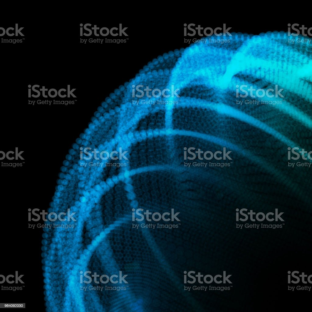 Abstract sphere of noise points. Grid vector illustration. Technology digital noise of data points. Spherical 3d waveform. vector art illustration