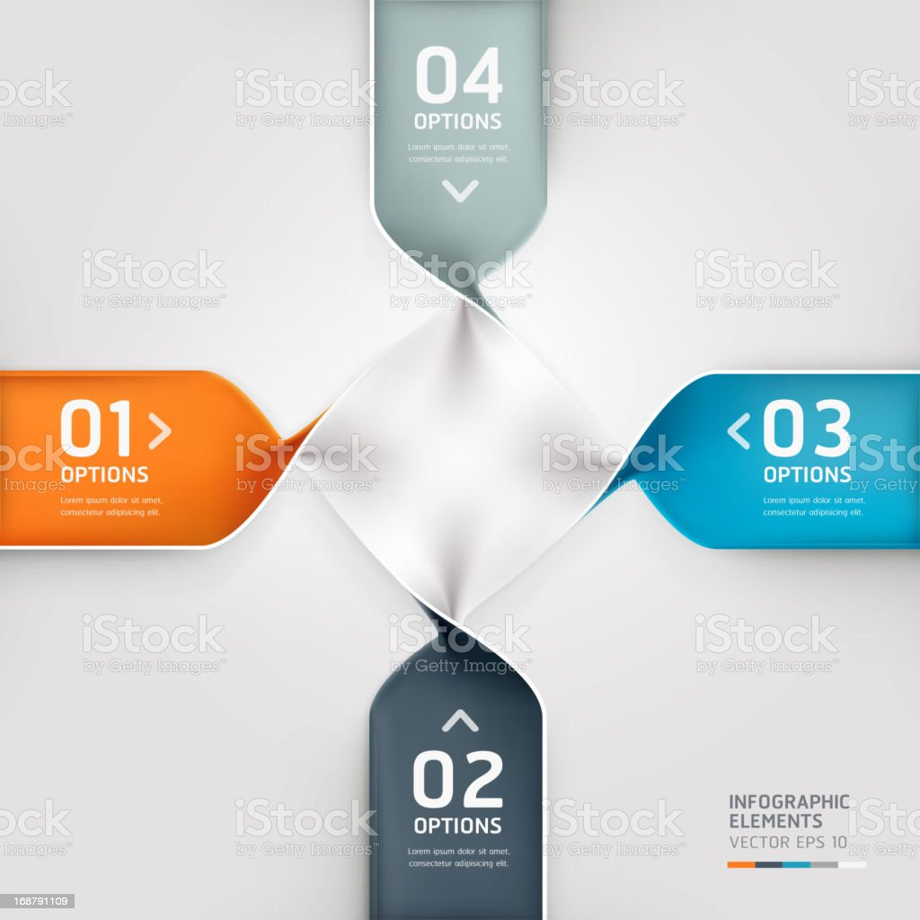 Abstract spiral infographics options banner. royalty-free stock vector art