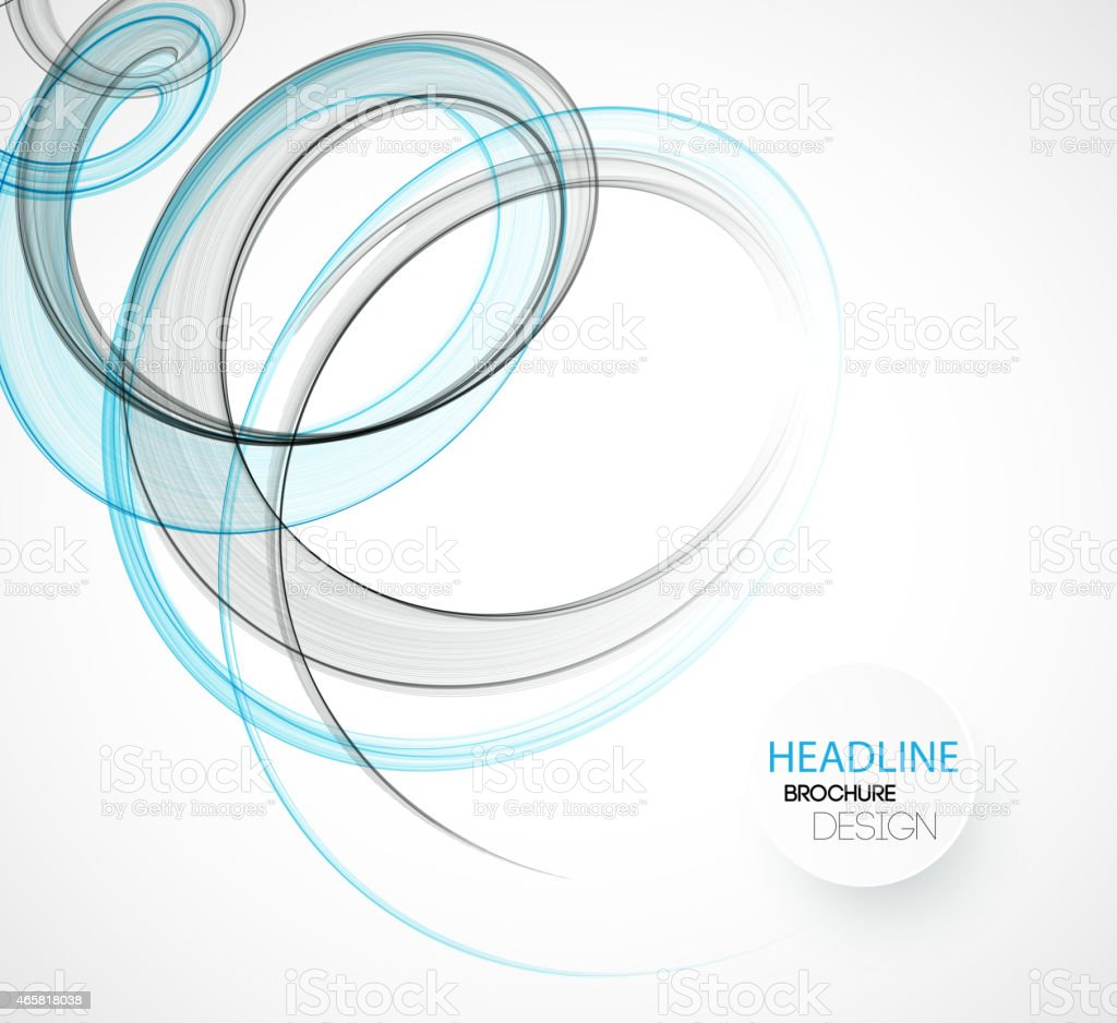 Abstract spiral wave pattern background vector art illustration