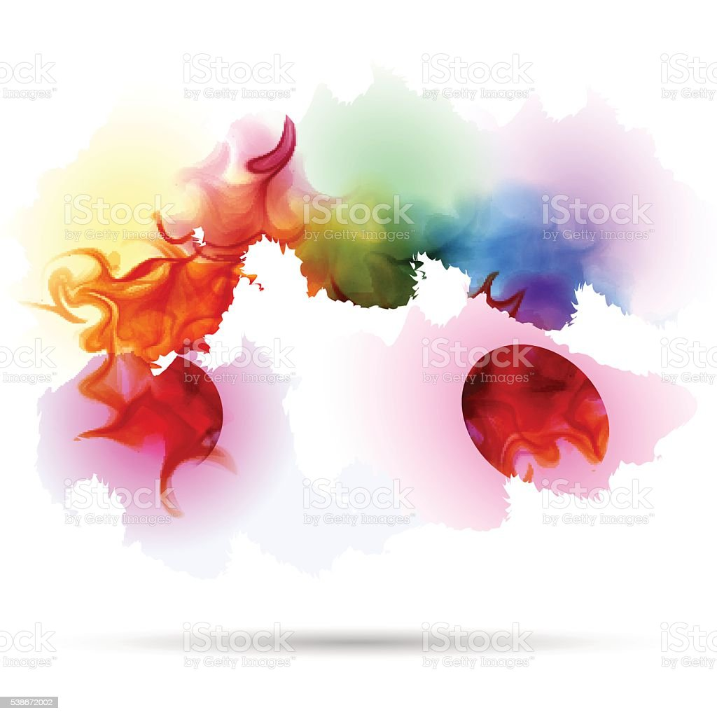 abstract splash colorful smoke background stock vector art