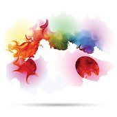 Abstract splash colorful smoke background.