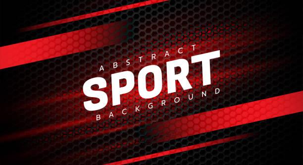 abstrakte sport hintergrund auf sechseck-mesh-design moderne luxus futuristische vektor-illustration. - sport stock-grafiken, -clipart, -cartoons und -symbole