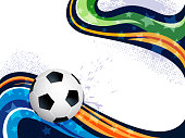 Abstract Sports Background with Copy space. Each element in a separate layers. Very easy to edit vector EPS10 file. It has transparency layers with blend effects.