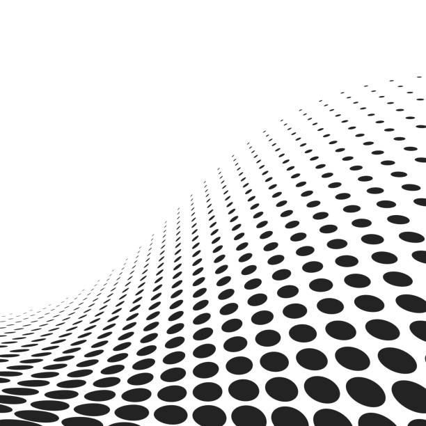 abstract spotted wavy surface - spotted stock illustrations