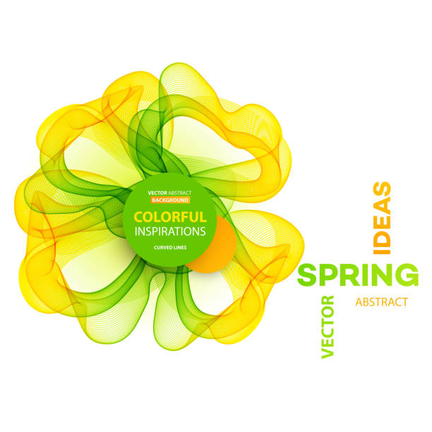 ilustrações, clipart, desenhos animados e ícones de fundo abstrato da primavera. modelo de design de brochura - molduras de certificados e premiações