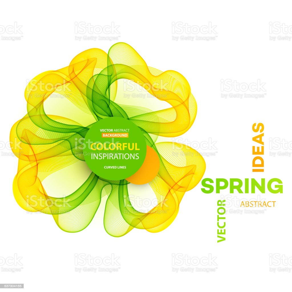 Abstract spring background. Template brochure design vector art illustration
