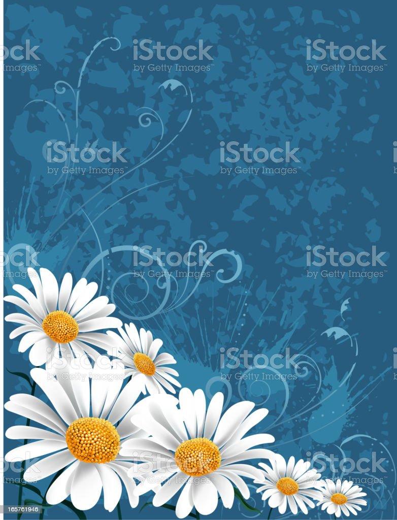 abstract spring frame vector art illustration
