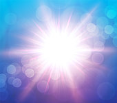 istock Abstract Spring Sun Blue-Pink Background with bokeh 1299167957