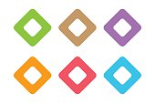Abstract square icon vector template