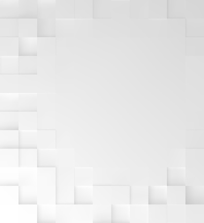 Abstract square White background, geometric minimalistic cover design, mosaic blocks pattern with copy space. Vector graphic.