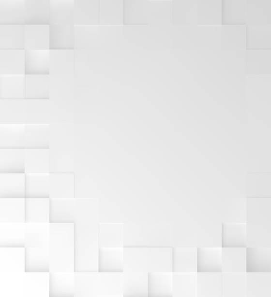 Abstract square White background, geometric minimalistic cover design, mosaic blocks pattern with copy space. Vector graphic. Abstract square White background, geometric minimalistic cover design, mosaic blocks pattern with copy space. Vector graphic. square composition stock illustrations
