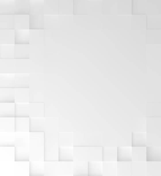 soyut kare beyaz arka plan, geometrik minimalist kapak tasarımı, mozaik bloklar kopya alanı desenle. vektör grafiği. - kare kompozisyon stock illustrations