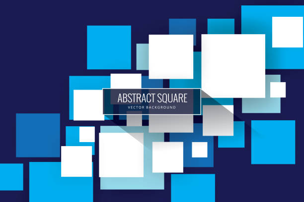 Abstract squares background Geometric Shape, Cube Shape, Shape, Tile, Tiled Floor square composition stock illustrations
