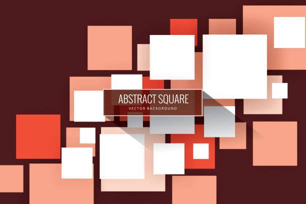 ilustrações de stock, clip art, desenhos animados e ícones de abstract squares background - vr red background