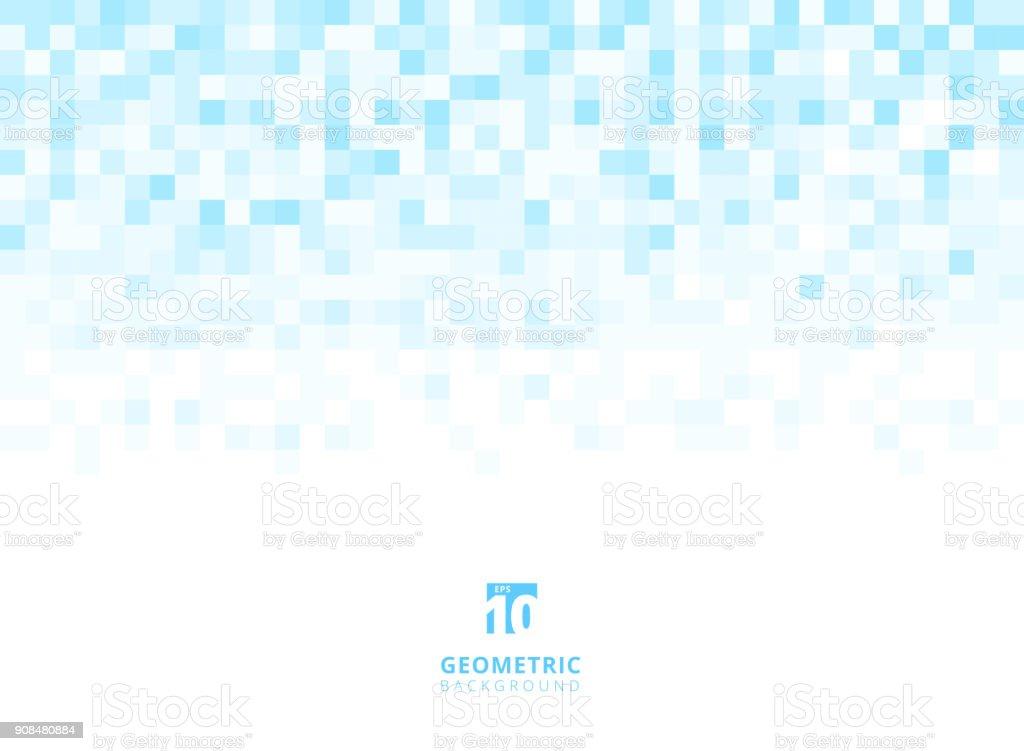 Abstrakt Quadrate geometrische hellblauen Hintergrund mit Textfreiraum. Pixel, Raster, Mosaik. – Vektorgrafik