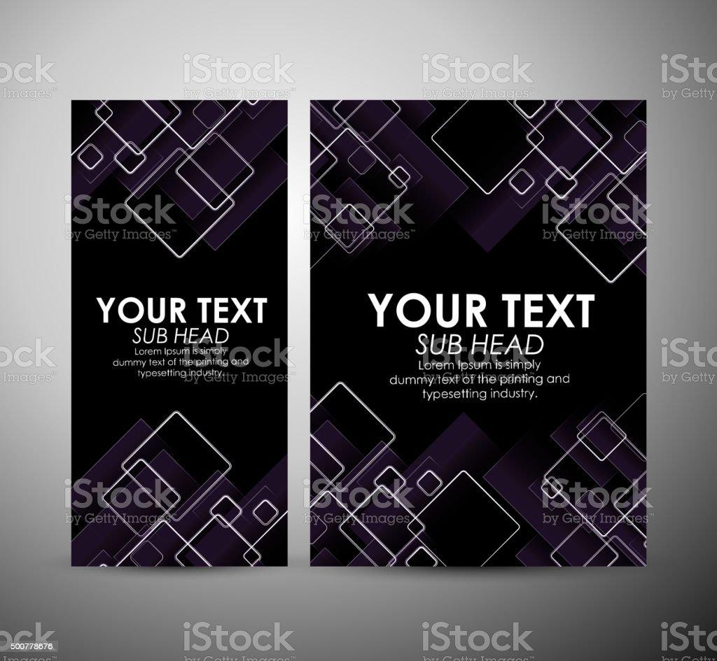 abstrait motif à carreaux brochure business design template ou