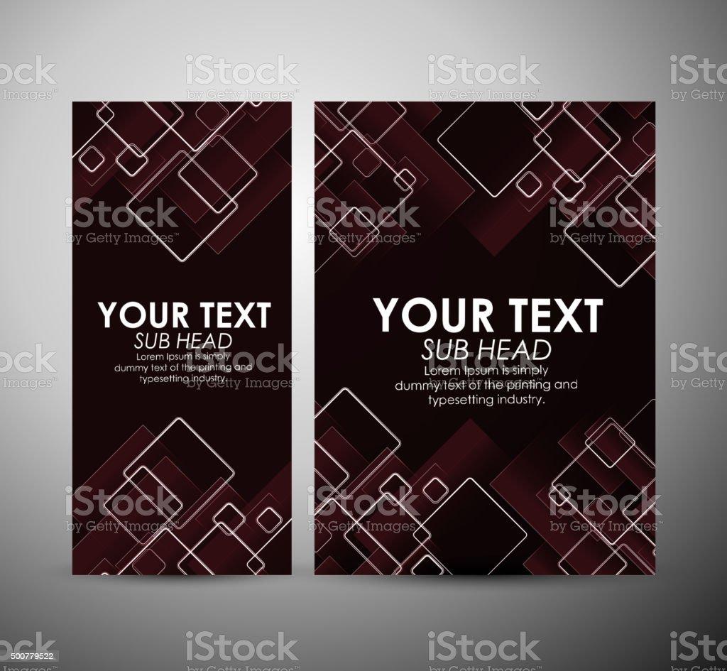 Abstrakte Quadratemuster Broschüre Vorlage Für Business Design Oder ...