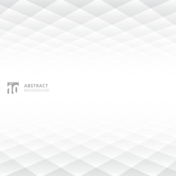 abstract squares pattern geometric white and gray color perspective background with copy space. - линейная перспектива stock illustrations