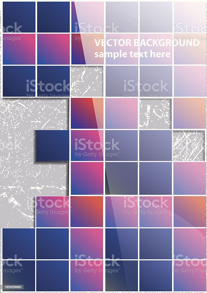 Abstract squares royalty-free stock vector art