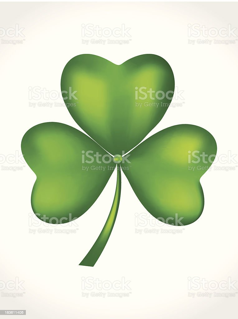 abstract st patrick Clover royalty-free stock vector art
