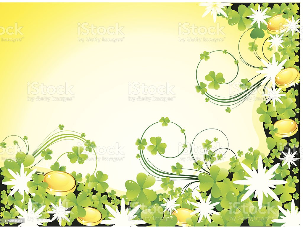 abstract st patrick's background royalty-free stock vector art