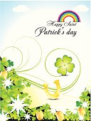 abstract s.t. Patrick's  day background