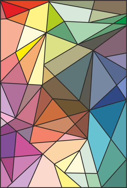 abstrakte buntglas-glasmalereien - mosaikglas stock-grafiken, -clipart, -cartoons und -symbole