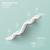 modern vector abstractstair flow chart infographic elements