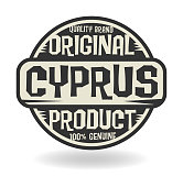 Abstract stamp with text Original Product of Cyprus, vector illustration