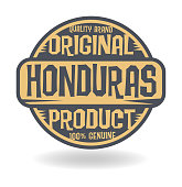 Abstract stamp with text Original Product of Honduras, vector illustration