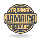 Abstract stamp with text Original Product of Jamaica