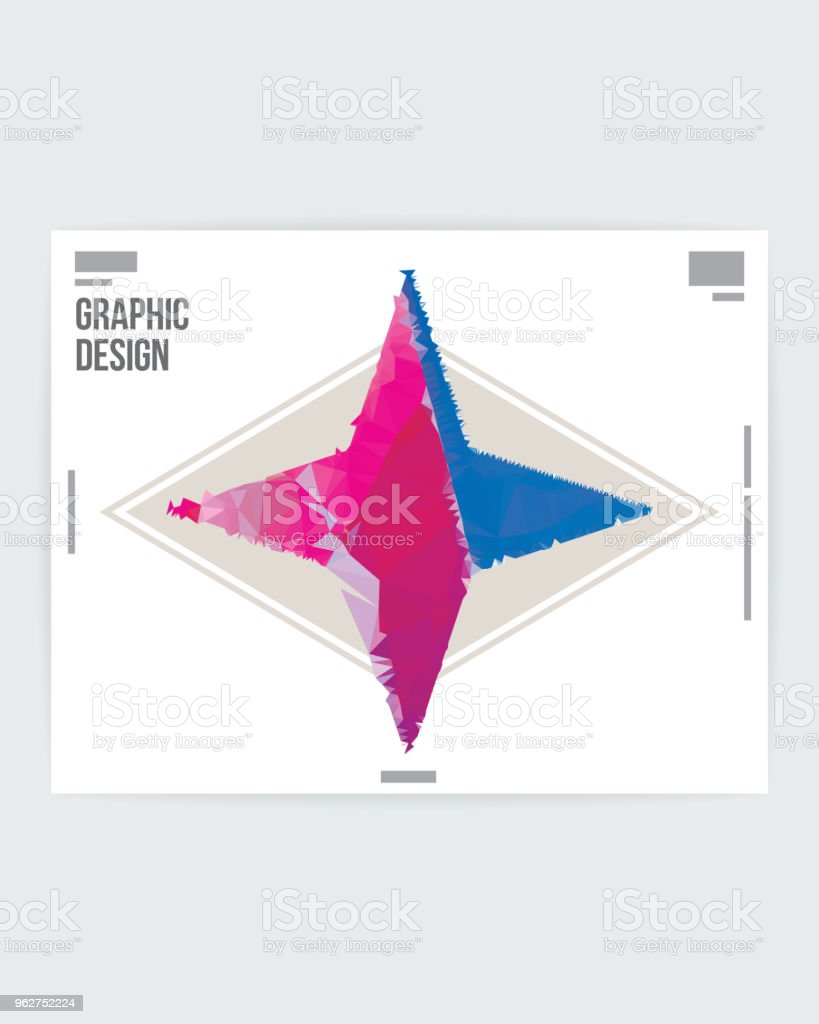 abstract star shape graphic design poster layout template stock