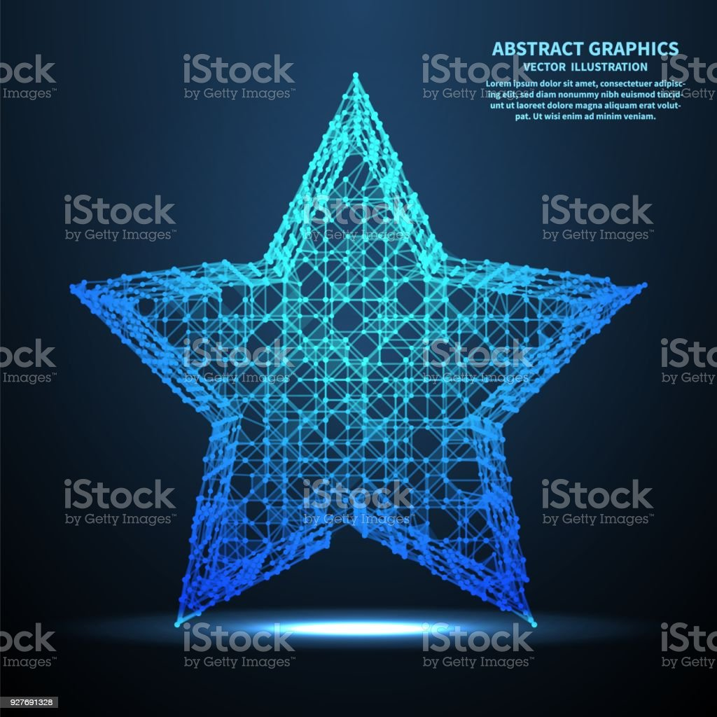 Abstract Star Vector Illustration Network Connections With Points ...