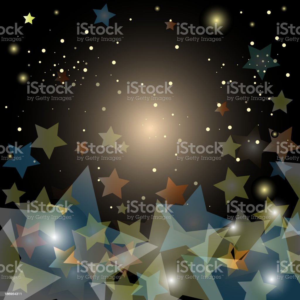 abstract starry night sky - vector illustration royalty-free abstract starry night sky vector illustration stock vector art & more images of abstract