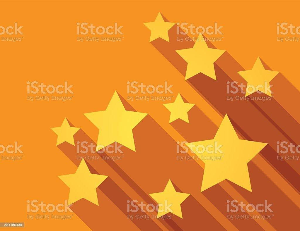 Abstract stars background vector art illustration