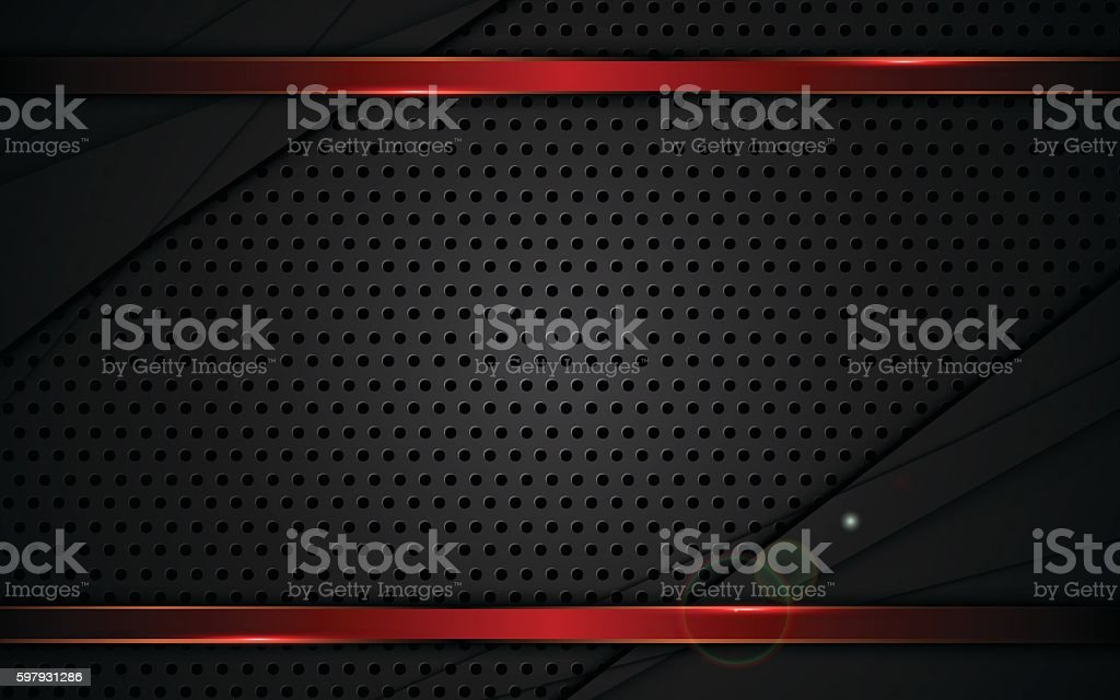 abstract steel texture red metallic frame background sports design