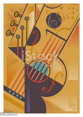 An abstract stringed instrument background.