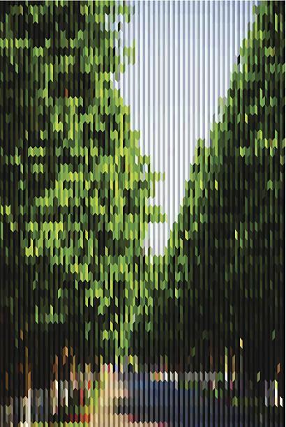 abstrakte streifen muster hintergrund grüne landschaft - glasblumen stock-grafiken, -clipart, -cartoons und -symbole