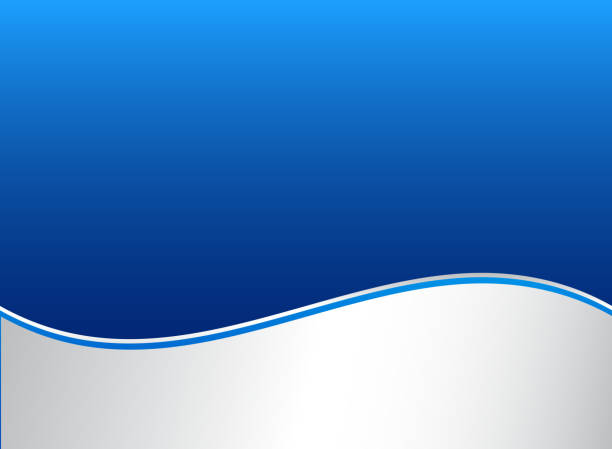 ilustrações de stock, clip art, desenhos animados e ícones de abstract stripe wave lines graphic blue and white gradient color background. - curva forma