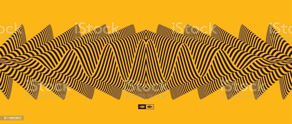 Abstrakte gestreiften Hintergrund. Optische Kunst. Vektor-Illustration. – Vektorgrafik