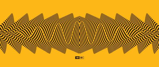 Abstract striped background. Optical art. Vector illustration. vector art illustration
