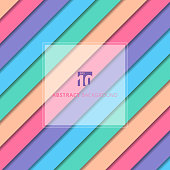 Abstract striped geometric pastel color pattern with shadow background and texture. Vector illustration