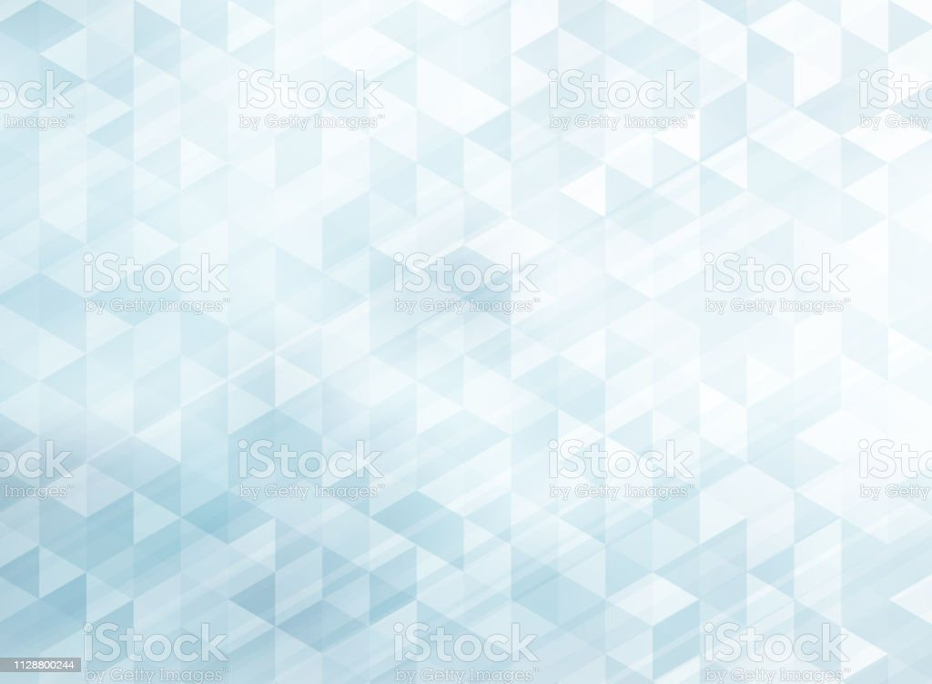 Abstract Striped Geometric Triangles Pattern Light Blue Color Background And Texture With Lighting Effect Stock Illustration Download Image Now