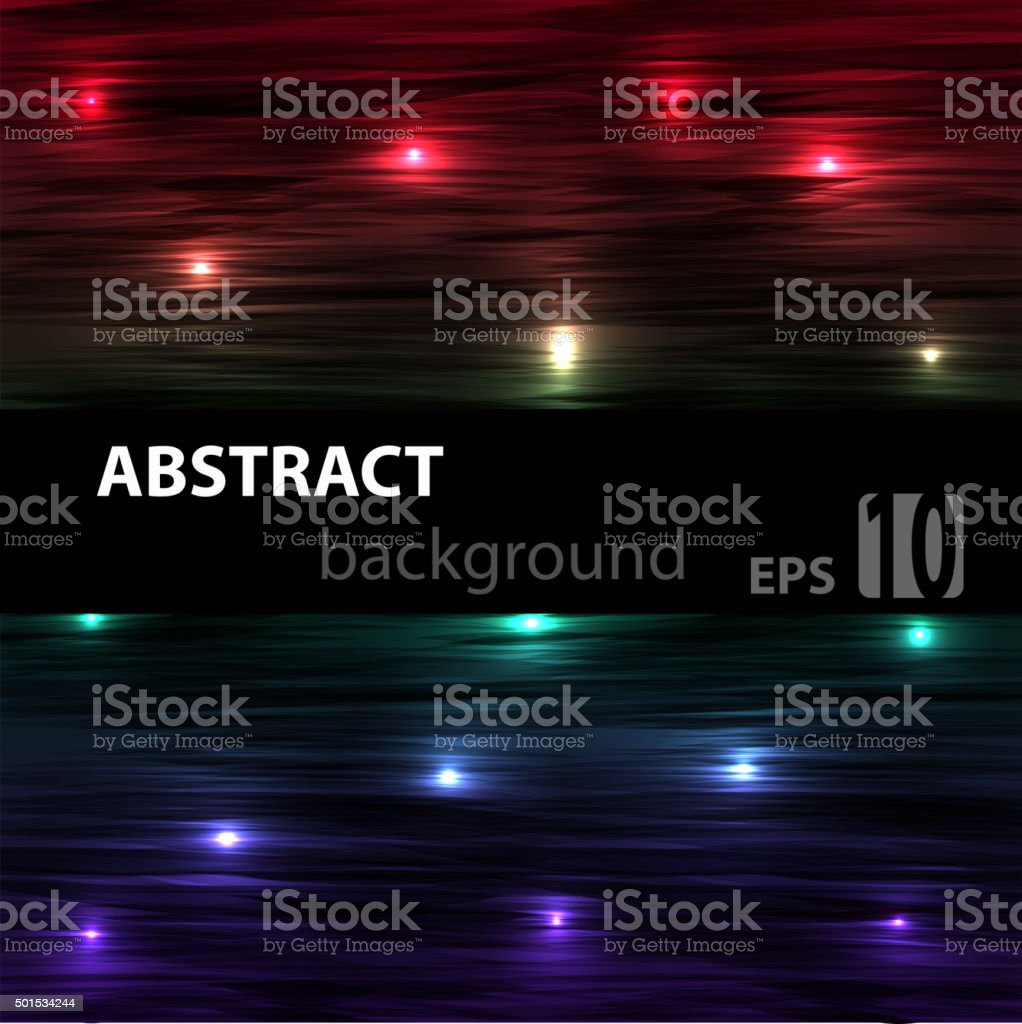 Abstract Striped Glowing Horisontal Background With Red Blue And Green  Stock Illustration - Download Image Now