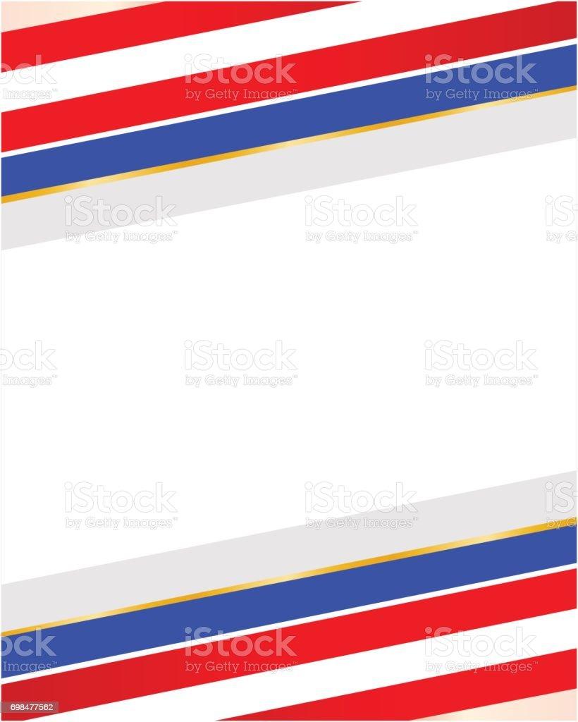 Abstrakte Gestreiften Usa Flagge Rahmen Stock Vektor Art und mehr ...