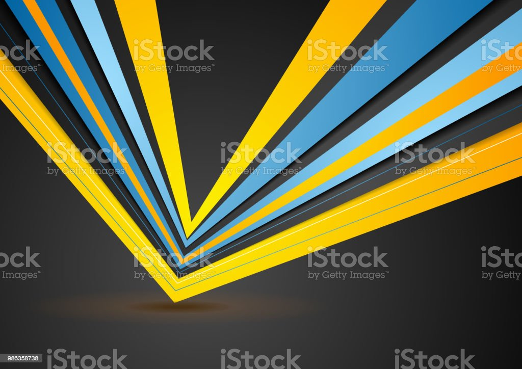 Abstract stripes corporate geometric background vector art illustration